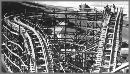 Building the Big Dipper, Playland, San Francisco
