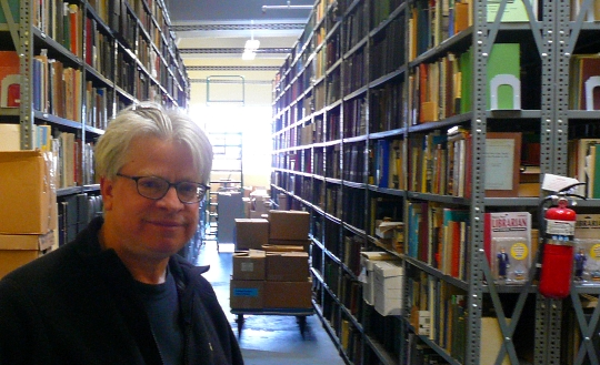 Rick Prelinger at the Prelinger Library in San Francisco, photo by Cory Doctorow
