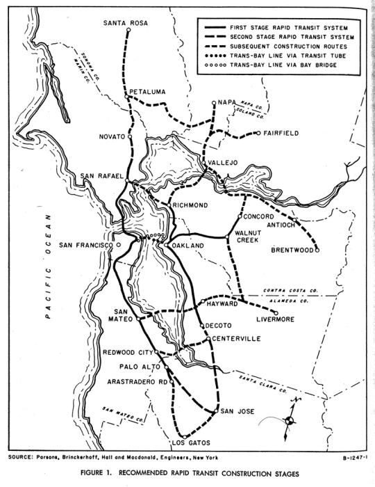 BART plans, 1957