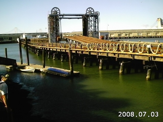 Abandoned pier for San Francisco's Belt Railroad
