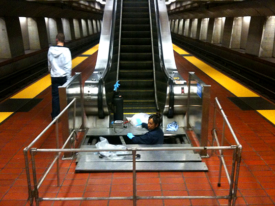 16th Street BART escalator, San Francisco