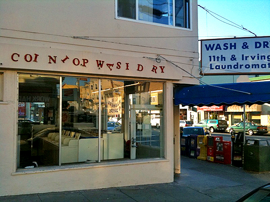 Laundromat sign in the Inner Sunset, San Francisco