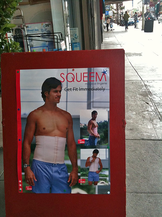 Squeem Man Girdles on Mission Street, San Francisco
