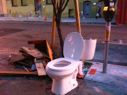 Toilet on 19th Street, San Francisco