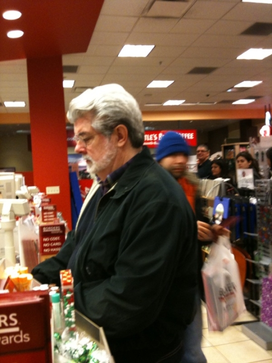 George Lucas Late Xmas Shopping Today, San Francisco