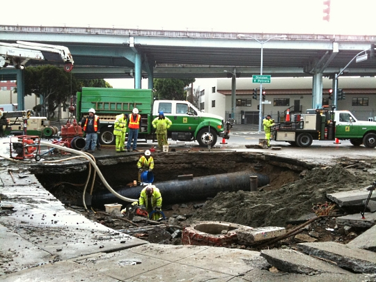 The SoMa Sinkhole, San Francisco, photo from the SF Appeal Flickr Stream