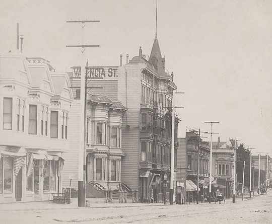 Valencia Street Hotel before fire, Bancroft Library