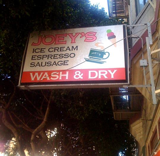 Ice Cream Espresso Sausage Wash & Dry, San Francisco