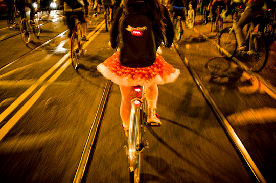 "Girls on Bikes, San Francisco; from the Flickr stream of ""[Zakka / Mikael]"""