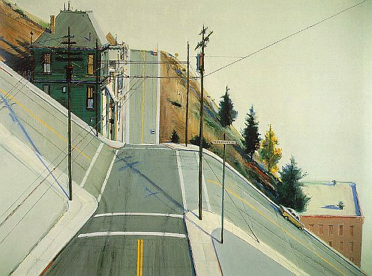 """24th Street Intersection"" by Wayne Thiebaud"