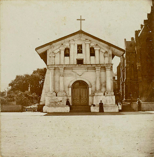 Old Photo of the Day: Mission Dolores, San Francisco, found at Flickr stream of Steveningen