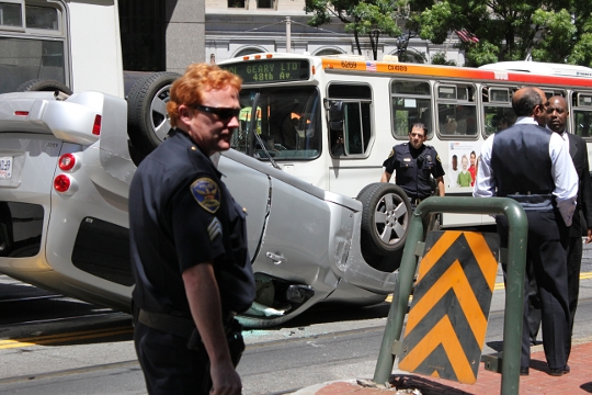 Overturned Car, San Francisco, photo by Spots Unknown