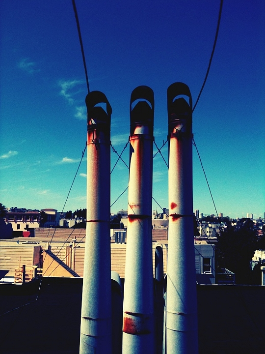 Three Rusted Pipes, San Francisco