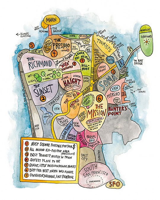 Racist Map of San Francisco?