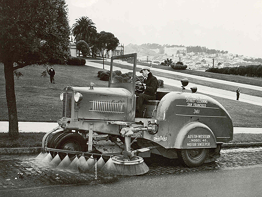 Vintage Street Sweeper, San Francisco