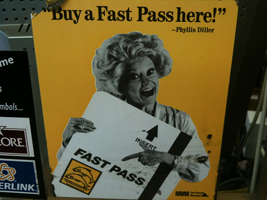 The Answer to Betty White Fatigue - Phyllis Diller as Fast Pass Spokesperson! - San Francisco