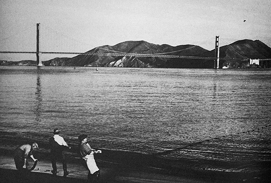 Fishermen at the marina, San Francisco; photo by Seymour Snaer