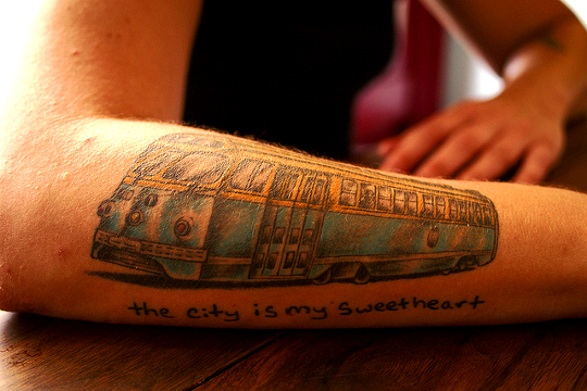 The city is my Sweetheart Tattoo, San Francisco