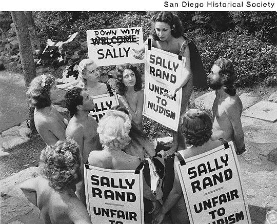 Sally Rand Nudist Protestors