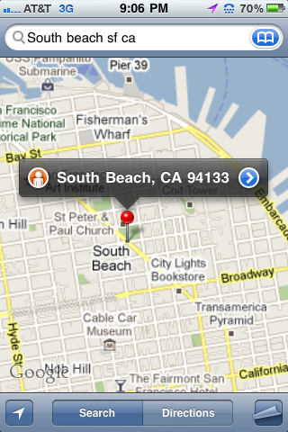 Google Thinks North Beach is South Beach, San Francisco