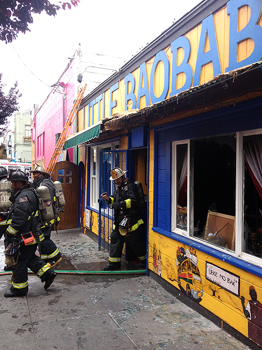 Fire at Little Baobab